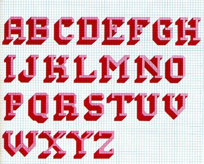 cross stitch alphabet pattern