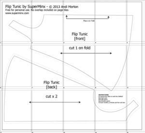 , A4 Flip Tunic Pattern