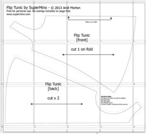 US Size Flip Tunic Pattern
