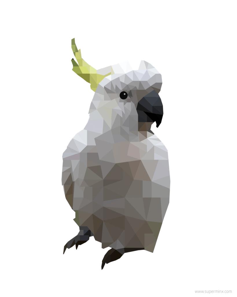 Cockatoo Art (Geometric) – Free Download