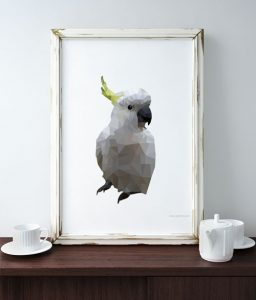 Cockatoo art, Cockatoo Art (Geometric) – Free Download