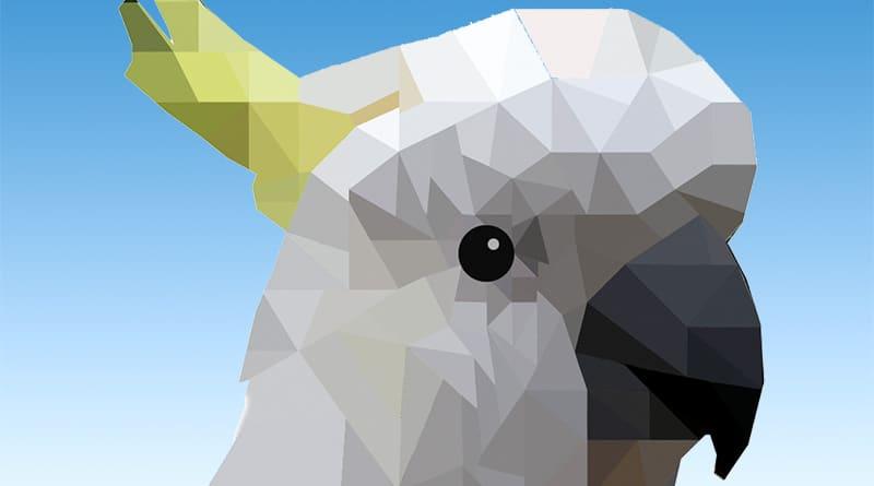 Low Poly Cockatoo Art Free